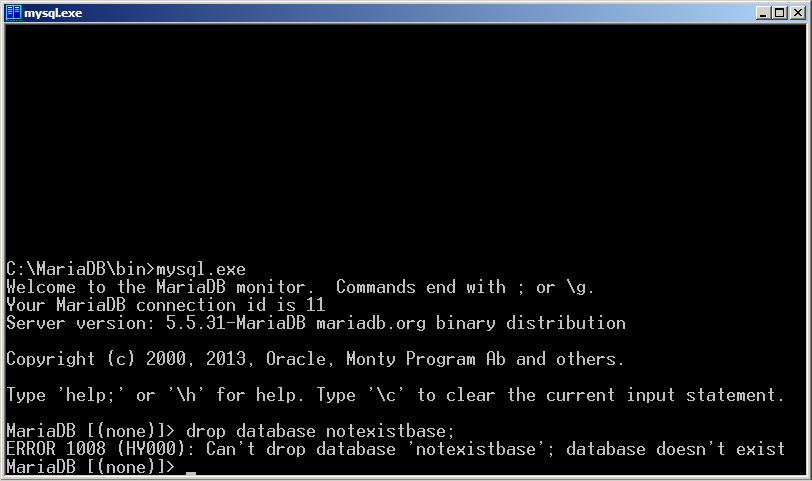 Программируем на Java. Базы данных. Удаление базы данных